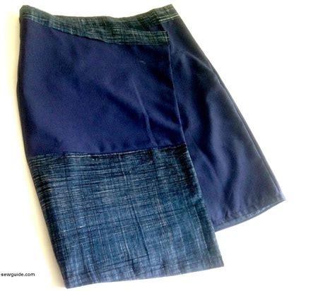 pattern wrap skirt make an asymmetrical mini wrap skirt diy pattern