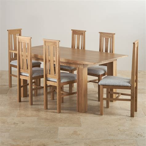 tokyo solid oak dining set 6ft table with 6 chairs