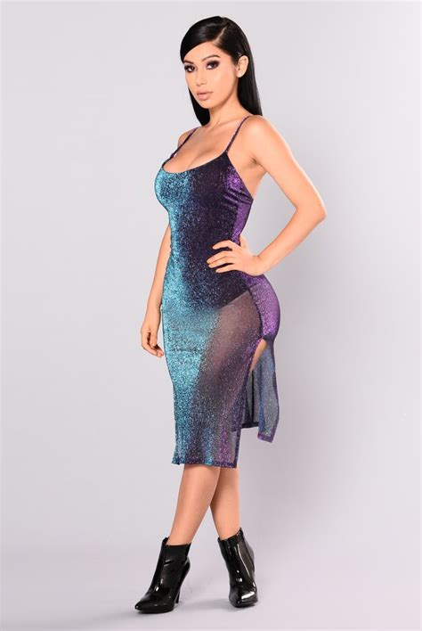 Chaterine Dress catherine metallic dress purple multi