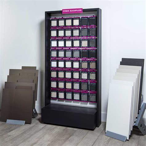 floor and wall tile company merchandising stand floor