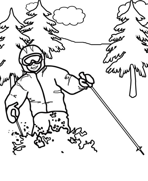 Olympic Coloring Pages by Winter Olympic Coloring Pages Skeleton Www Pixshark