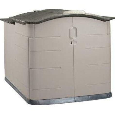 Rubbermaid Trash Shed by Rubbermaid Slide Lid Storage Shed 3752 Grey 589 99