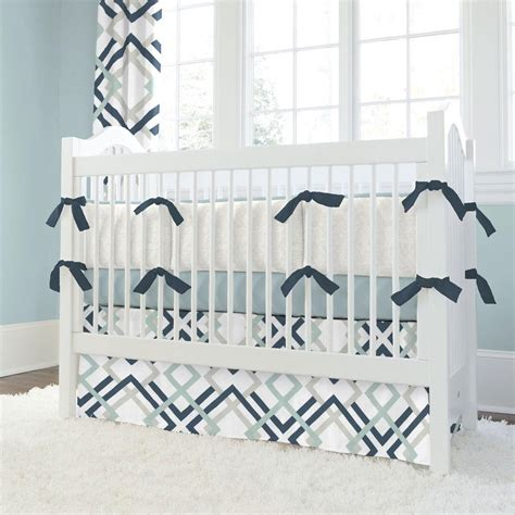 navy crib bedding navy and gray geometric crib bedding carousel designs