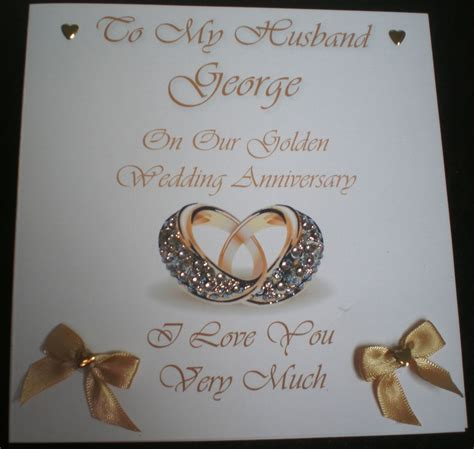 30th Wedding Anniversary Card Husband by Golden Wedding Anniversary Personalised Card Husband