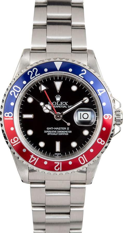 Jam Replika Rolex Gmt Master Ii Black Pepsi Swiss Eta 1 1 rolex pepsi gmt master 2 16710 steel
