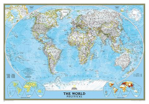 geographical map of national geographic classic world wall map maps