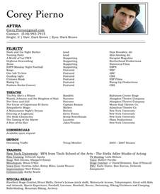resume templates for actors acting resume search results calendar 2015