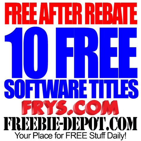 rebate free free after rebate 10 free software titles from fry s