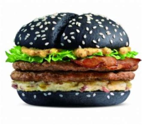 Beef Burger By Macd burger king in japan unveils new black bunned burger with black cheese daily mail