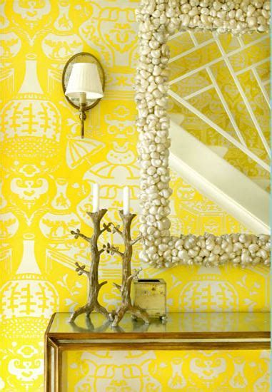 yellow foyer yellow wallpaper foyer meg braff interiors hooked on houses