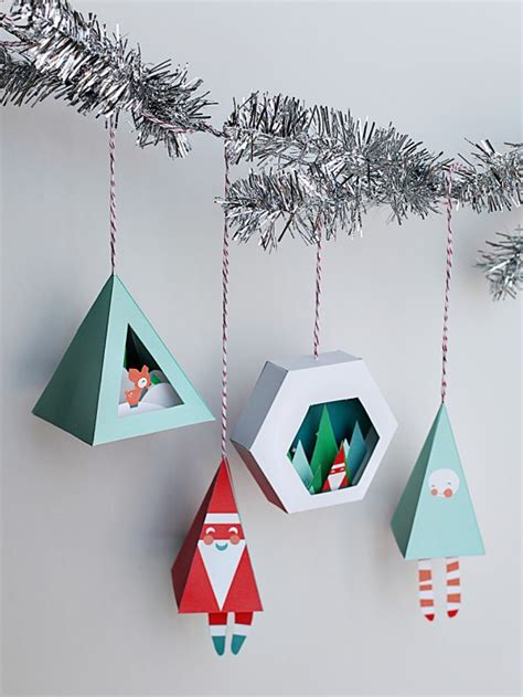 printable paper decorations paper craft printables for christmas fun for christmas