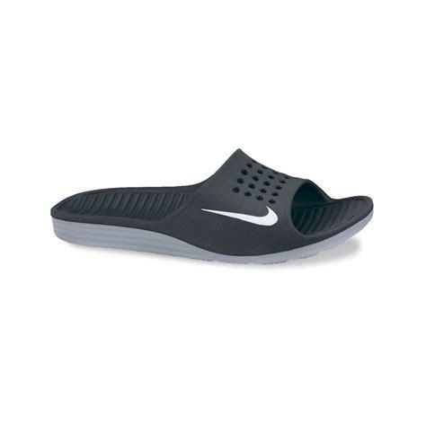 Nike Solarsoft nike solarsoft slides in black for lyst