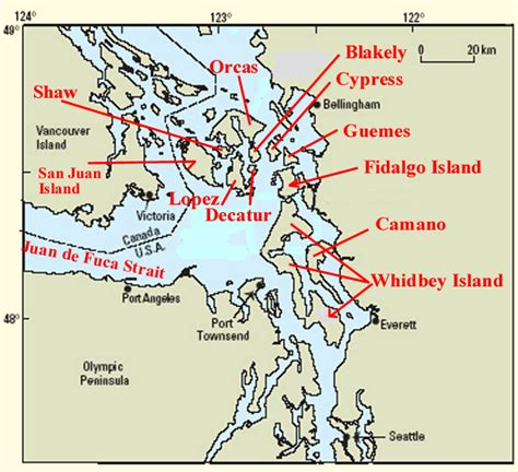 map of whidbey island whidbey island