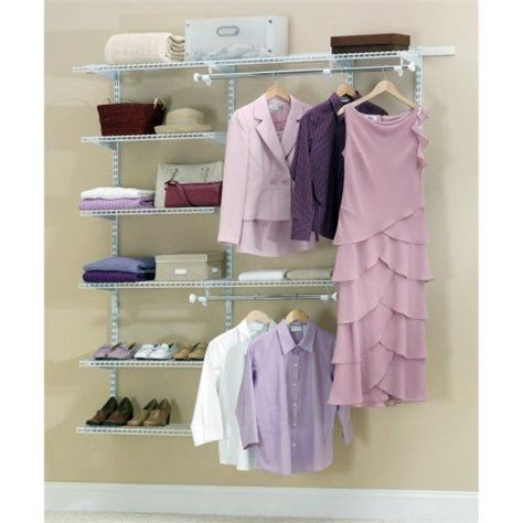 Home Storage Space Deluxe Closet Organizer Rubbermaid Configurations Closet Kits 3 6 Deluxe