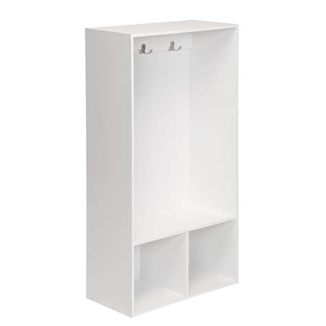 Closetmaid 2 Cube Organizer White closetmaid cubeicals 24 in w x 47 in h white 2 cube storage locker 1598 the home depot