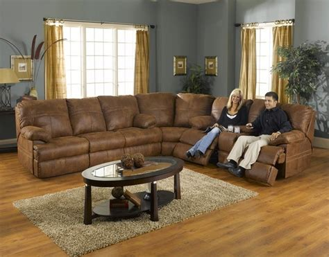 catnapper sleeper sofa catnapper ranger 3 manual recline sectional with sleeper in transitional