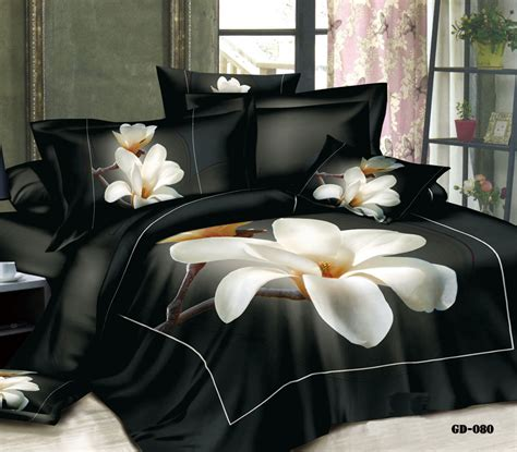 3d bedding king size 3d magnolia floral flower bedding set california king