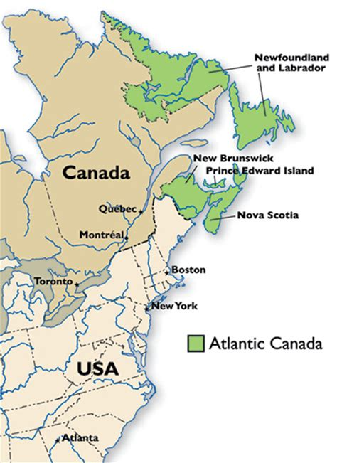 map eastern canada provinces atlantic canada s aerospace and defence industry