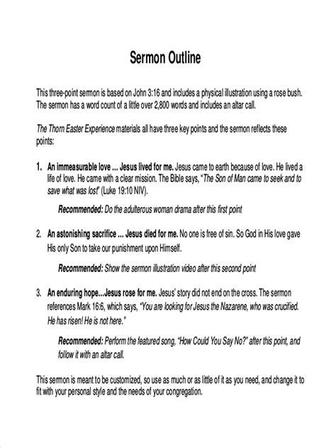 23 Free Outline Exles Sles Sermon Outline Template
