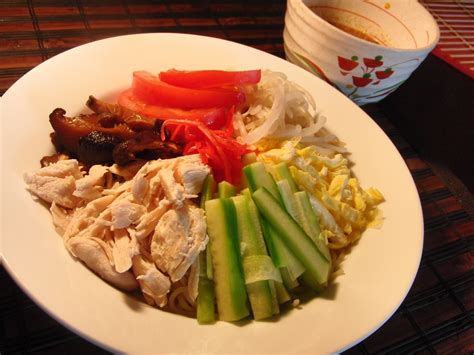 japanese dishes recipes dish hiyashi chuka reimen recipe japanese recipes japan