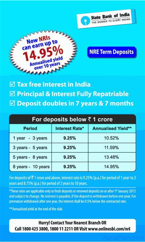 best term deposit sbi nre term deposit rate april 2012