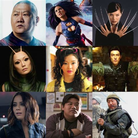 marvel film with all characters the definitive list of asian characters in marvel movies