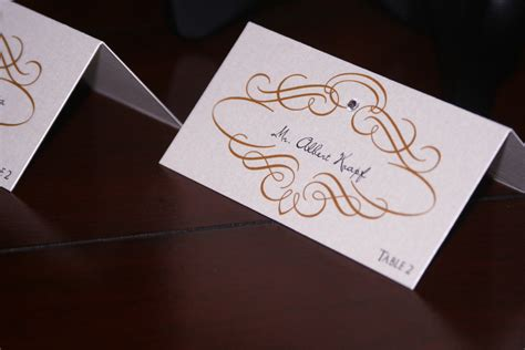 unique place cards gold scroll wedding place cards too chic little shab