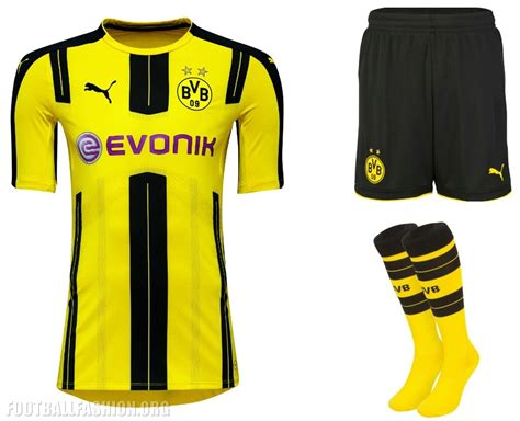 Jersey Dortmund Away 2016 2017 borussia dortmund 2016 17 home kit football fashion org