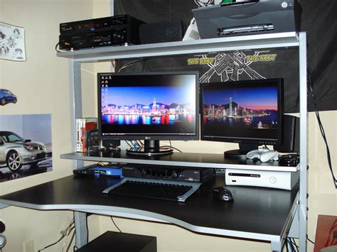 best pc gaming desk best gaming computer desk 2014 atlantic 33935701 gaming desk