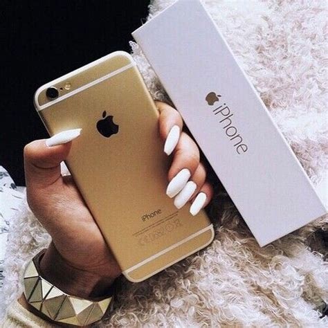 cute goals gold iphone nails tumblr white iphone