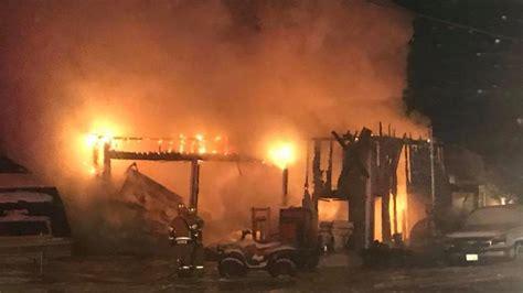 fire destroys belgrade boat shop wgme - Belgrade Boat Shop