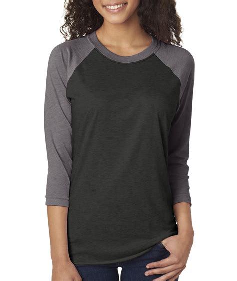 Raglan 3second 4 next level 6051 t shirt s next level tri blend 3 4 sleeve raglan new ebay