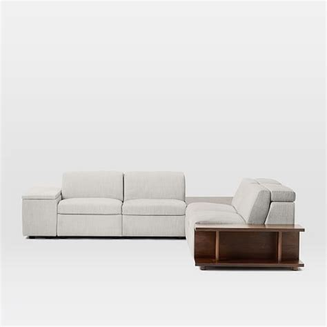 enzo sofa west elm enzo reclining 4 seater sectional with corner