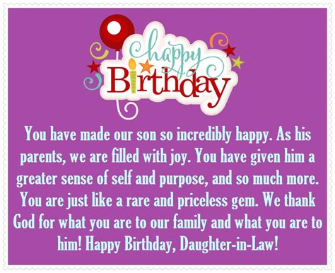 Happy Birthday Wishes To Our Happy Birthday Daughter In Law Best Birthday Wishes For You