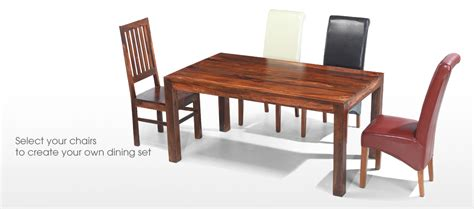sheesham wood dining table cube sheesham 140 cm dining table and 4 chairs quercus