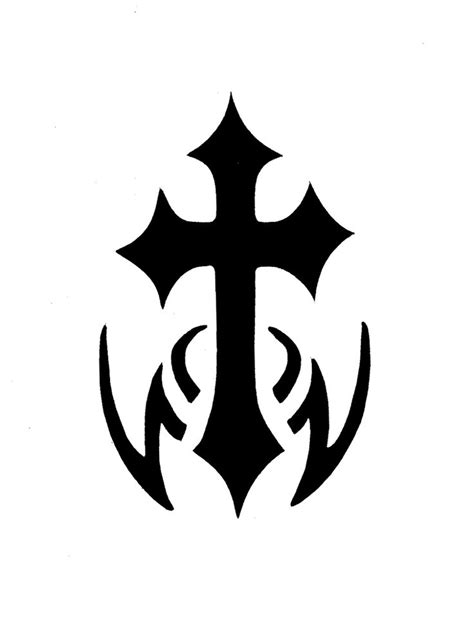 cross silhouette tattoo 13 best cross stencils images on crosses