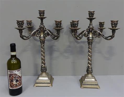 candelieri argento candeliere con scultura cervo in argento gognabros it
