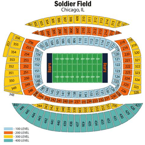 soldier field seating chart soldier field seating chart soldier field tickets