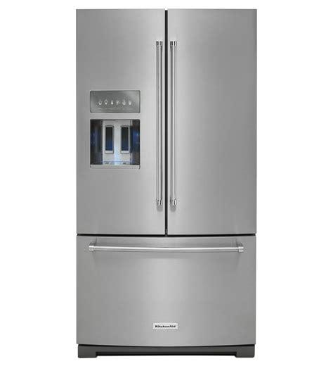 standard depth door refrigerator krff707ess kitchenaid standard depth door refrigerator