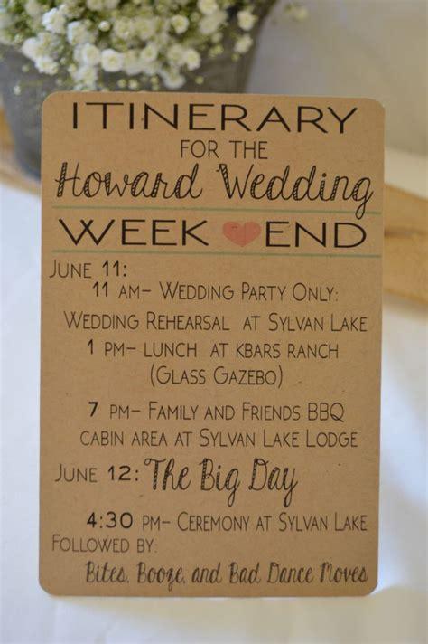 Wedding Weekend Checklist by Best 25 Wedding Weekend Itinerary Ideas On