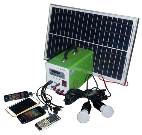mini portable home solar power system 10w 7ah portable