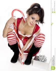 Sexy woman elf christmas santa clause helper