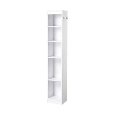White Bathroom Linen Tower by Collection 11 22 In W Laminate Bathroom Linen Tower