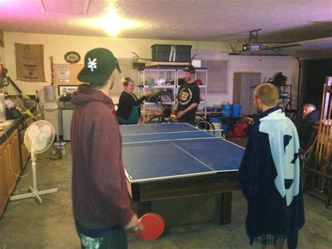 ping pong table in garage a of ping pong in the garage my capon bridge wv