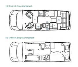 motorhome vans floorplans autos post
