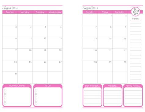 free printable 2014 monthly calendar page 2 new calendar