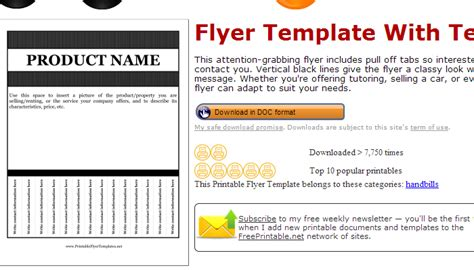 Flyer Template With Tabs