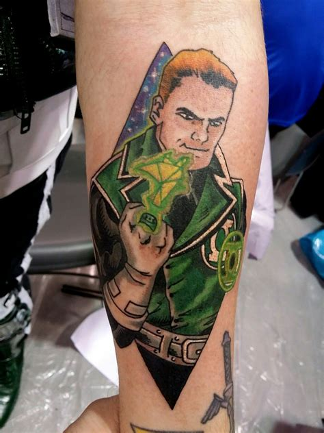 green lantern tattoo gardner green lantern dc comics by steve rieck