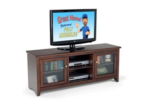 Bobs Furniture Tv Stands by Cappuccino 62 Console Tv Stands Entertainment Bobs Discount Furniture