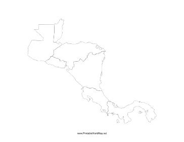 printable maps central america central america blank map